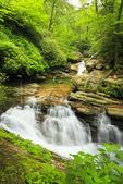 Skinny Dip Falls, Mountains To Sea Trail, Blue Ridge Parkway, North Carolina, USA