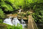 Skinny Dip Falls, Mountain To The Sea Trail, Blue Ridge Parkway, North Carolina, USA