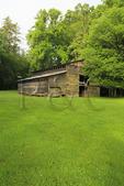 Palmer Barn in Cataloochee Valley, Great Smoky Mountains National Park, North Carolina, USA