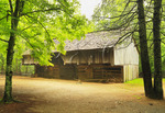 Laquire Cantilever Barn, Cable Mill Area, Cades Cove, Great Smoky Mountains National Park, Tennessee, USA