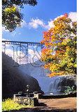 Railroad Bridge at Upper Falls, Letchworth State Park, Castile, New York