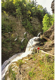 Lucifer Falls in Enfield Glen, Robert H. Treman State Park, Ithaca, New York