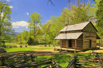 John Oliver Cabin, Cades Cove, Great Smoky Mountains National Park, Tennessee, USA