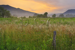 Sparks Lane at Sunrise, Cades Cove, Great Smoky Mountains National Park, Tennessee, USA