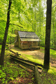 John Ownby Cabin, Sugarland Area, Great Smoky Mountains National Park, Tennessee, USA