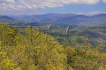 View From look Rock Tower, The Foothills Parkway, Townsend, Tennessee, USA