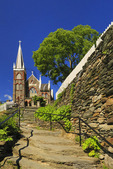The Stone Steps, Appalachian Trail, and Saint Peters Catholic Church, Harpers Ferry, West Virginia, USA