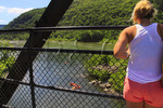 View From Appalachian Trail Potomac River Bridge, Harpers Ferry, West Virginia, USA