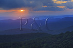 Sunset, The Point, Shenandoah National Park, Virginia, USA