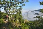 View of Fog Over Shenandoah Valley, Riprap Trail, Shenandoah National Park, Virginia, USA