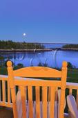 Moonrise, Grey Havens Inn, Georgetown, Maine, USA