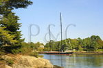 Schooner, Porter Preserve, Boothbay, Maine, USA