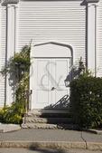 Church Door, Wiscasset, Maine, USA