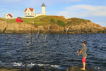 Cape Neddick Lighthouse, Nubble Light, York Beach, Maine, USA