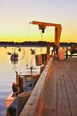 Sunrise, Harbor, Pine Point, Maine, USA