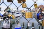 Fences of Love, Harbor, Portland, Maine, USA