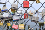 Fences of Love, Harbor, Portland, Maine, USA