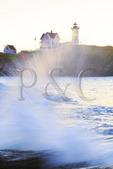 Cape Neddick Lighthouse, Nubble Light, York Beach, Maine, USA