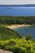 Sand Beach seen from Gorham Mountain Trail, Acadia National Park, Maine, USA