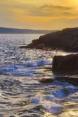 Sunset, Schoodic Point, Schoodic Peninsula, Acadia National Park, Maine, USA