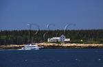 Tour Boat and Winter Harbor Lighthouse, Schoodic Peninsula, Acadia National Park, Maine, USA