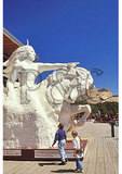 Plaster Sculpture and Crazy Horse Memorial, Black Hills, Crazy Horse, South Dakota