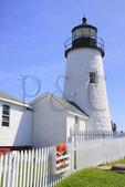 Pemaquid Point, Lighthouse, Pemaquid Lighthouse Park, New Harbor, Maine, USA