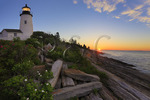 Sunrise, Pemaquid Point, Lighthouse, Pemaquid Lighthouse Park, New Harbor, Maine, USA
