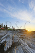 Sunrise, Pemaquid Point, Lighthouse, Pemaquid Lighthouse Park, New Harbor, Maine, USA