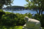 Beckjord Ram Statue, Sorrento Harbor, Maine, USA