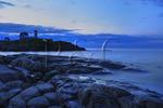 Sunrise, Cape Neddick Lighthouse, Nubble Light, York Beach, Maine, USA