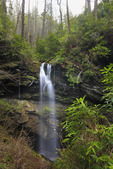 Waterfall, White Oak Sink Trail Off Schoolhouse Gap Trail, Great Smoky Mountains National Park, Tennessee, USA