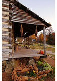 Cabin Porch at Humpback Rocks Farmstead, Blue Ridge Parkway, Virginia