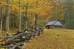 Barn, Jim Bales Place, Great Smoky Mountains National Park, Tennessee, USA