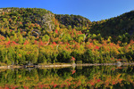 Footbridge, Jordan Pond Shore Trail, Acadia National Park, Maine, USA