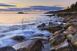 Sunrise, Schoodic Harbor, Schoodic Peninsula, Acadia National Park, Maine, USA