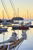 Sunrise, Harbor, Camden, Maine, USA