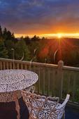 Sunset, Bluff House, Gouldsboro, Maine, USA