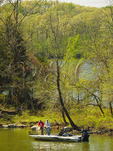 Fishing in Devils Elbow, Lake Barkley, Land Between The Lakes National Recreation Area, Golden Pond, Kentucky, USA