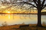 Sunrise, Hotel Lakeshore Kenlake State Resort Park, Kentucky, USA