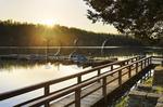Sunset, Boat Dock, Pennyrile Forest State Resort Park, Kentucky, USA