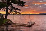 Dock, The Lake House at Ferry Point Inn, Winnisquam Lake, Sanbornton, New Hampshire, USA