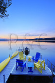 Dock, Winnisquam Lake, Sanbornton, New Hampshire, USA