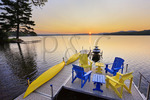 Dock, Winnisquam Lake, Sanbornton, New Hampshire, USA