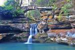 Upper Falls, Old Mans Cave, Hocking Hills State Park, Logan, Ohio, USA