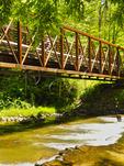 Trestle 21, Whitetop Laurel Creek, Virginia Creeper Trail, Damascus, Virginia, USA