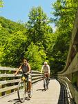 Trestle 23.Whitetop Laurel Creek, Virginia Creeper Trail, Damascus, Virginia, USA