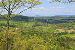 Mount Tom Road Overlook of Woodstock, Marsh-Billings-Rockefeller National Historical Park, Woodstock, Vermont, USA