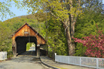 Covered Bridge, Downtown Woodstock, Vermont, USA