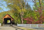 Covered Bridge, Downtown Woodstock, Vermont, USA
